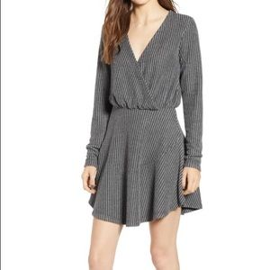 Gray corded long sleeve dress from Nordstrom